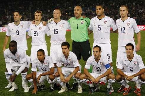 """Seleção dos Estados Unidos, em 2010. O """"Soccer""""  lá está virando coisa de homem."""