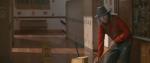Vestido como Freddy Krueger