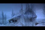 Casa amanhece coberta de neve
