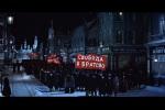 Casas e ruas que reconstituem Moscou