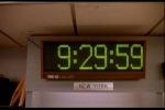 Relógio anuncia a abertura do mercado