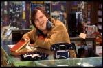 Vendedor de discos fanático