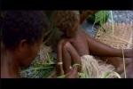 Degradação dos habitantes da aldeia melanésia