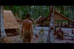 Poucas roupas e simples cabanas dos nativos