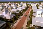 Belas casas e edifícios da cidade